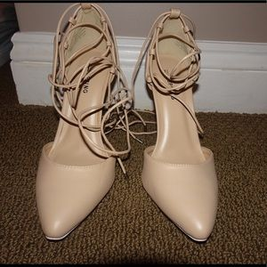 NWT Call it Spring Lace up Heels!